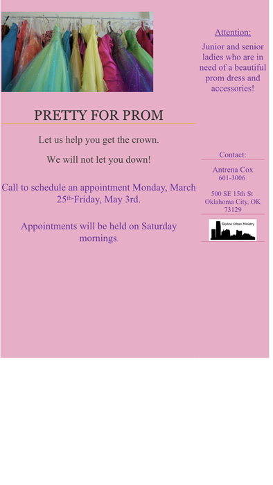 Prom flyer